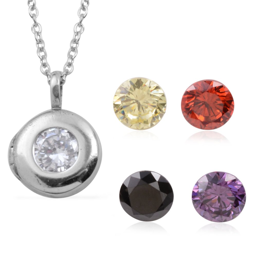 multi color diamond pendant