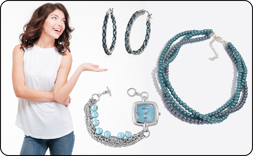 Look Memorable at Family Get together With Beaded Necklace Hoop Earrings and Trendy Watches